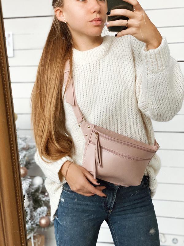 Поясная сумка розовая, сумка бананка