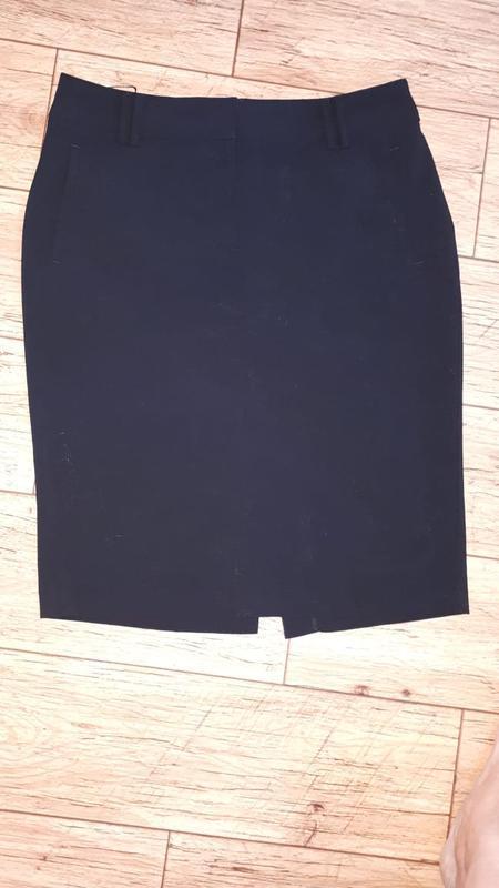 Качественная офисная черная юбка карандаш