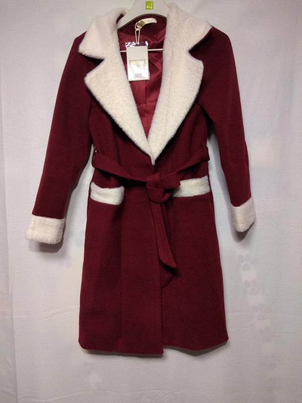 Женское кашемировое двухцветное пальто - Фото 2