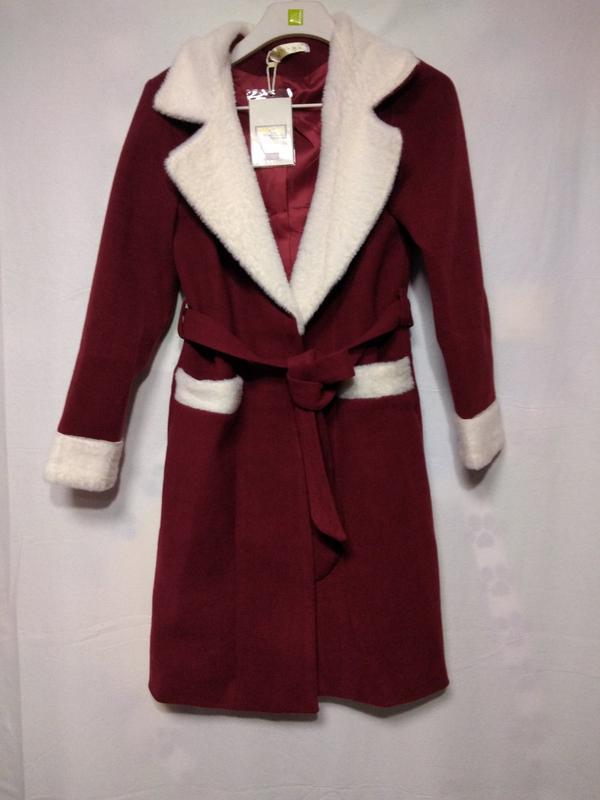Женское кашемировое двухцветное пальто - Фото 3