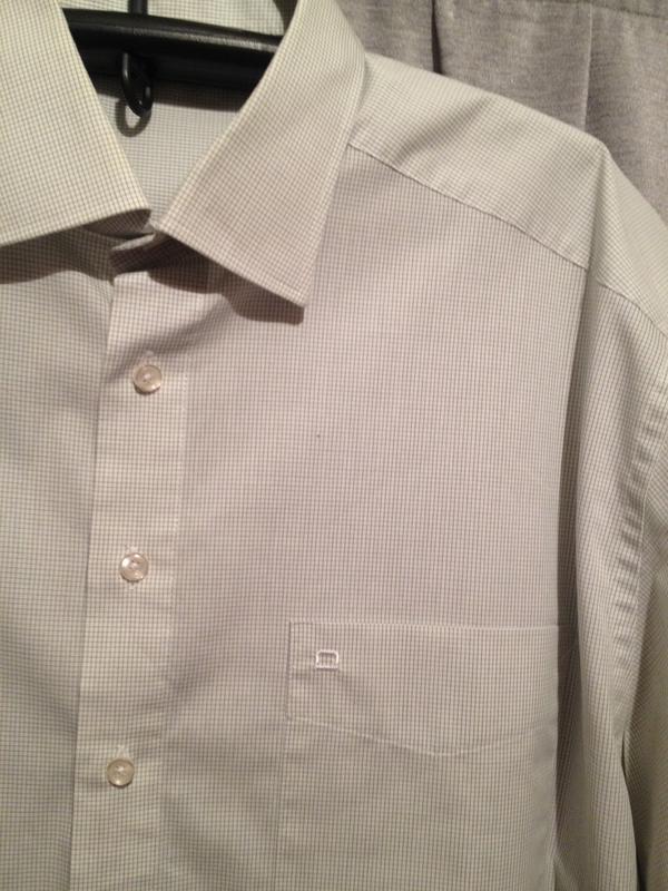 Рубашка в меленькую клеточку большой размер.300