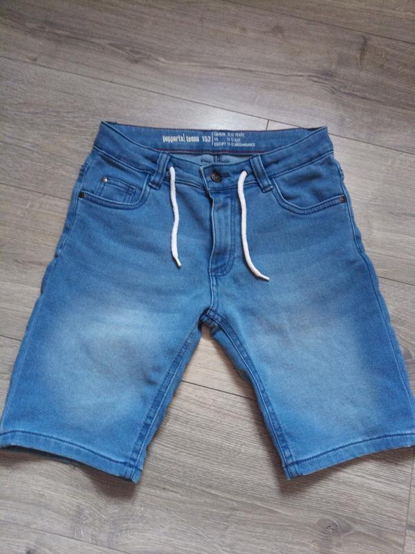 Шорти джинс-котон pepperts німеччина pозмір 152 на 12 років