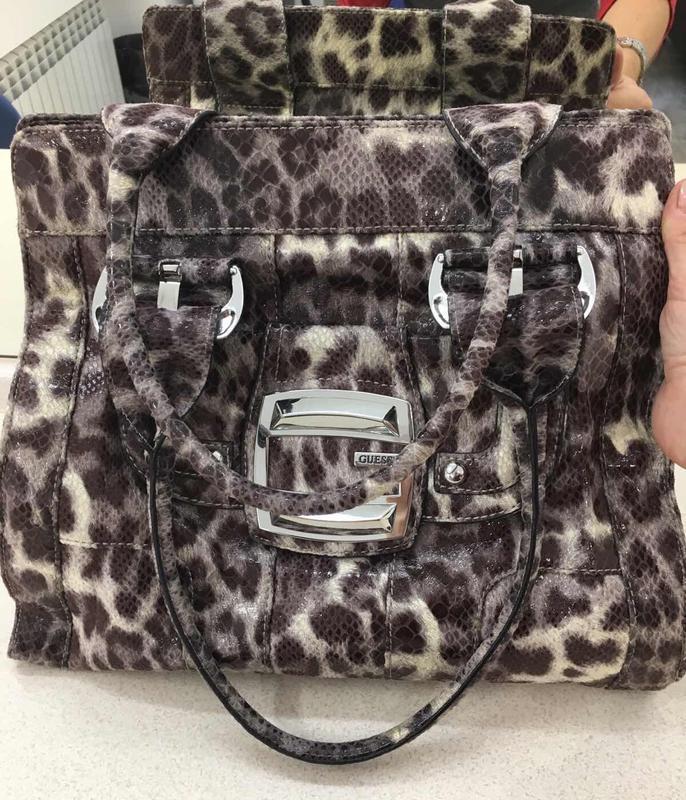 Фирменная сумка guess оригинал  ⁉️принт  леопард ! ????