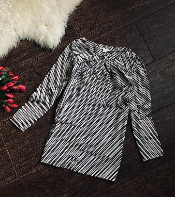 Шикарная натуральная рубашка в горошек от cos