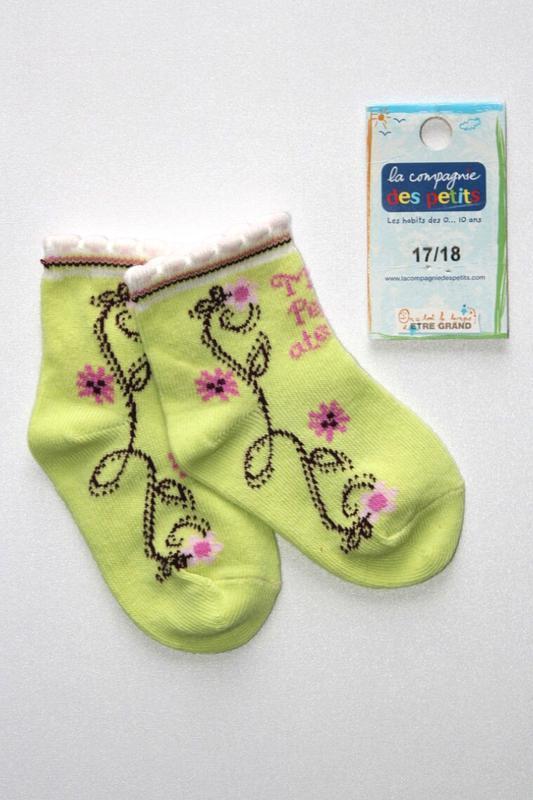 Детские коттоновые носочки, премиум качество, франция. 3-6 мес