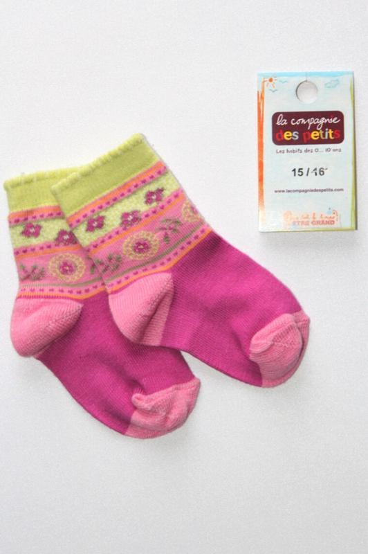 Детские коттоновые носочки, премиум качество, франция. 1-3 мес