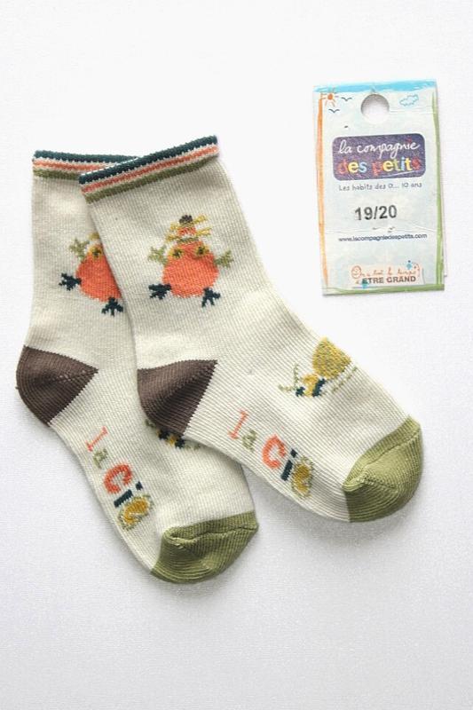 Детские коттоновые носочки, премиум качество, франция. 6-12 мес
