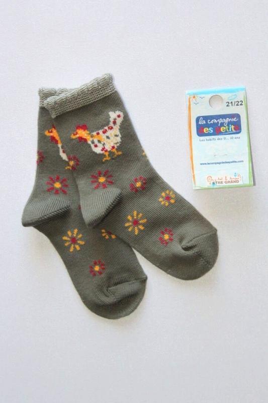 Детские коттоновые носочки, премиум качество, франция. 12-18 мес.