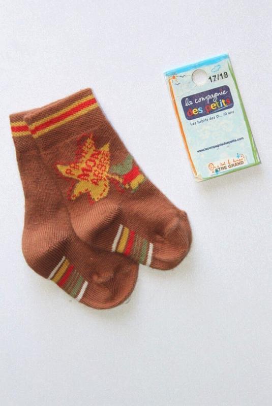 Детские коттоновые носочки, премиум качество, франция. 3-6 мес.