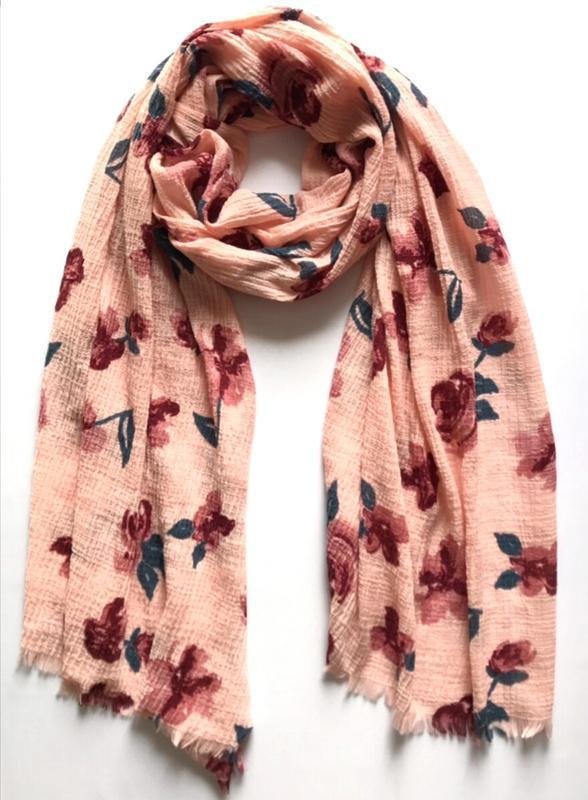Интересный жатый шарф палантин, c&a