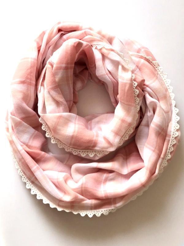 Коттоновый легкий нежный шарф хомут, снуд, c&a