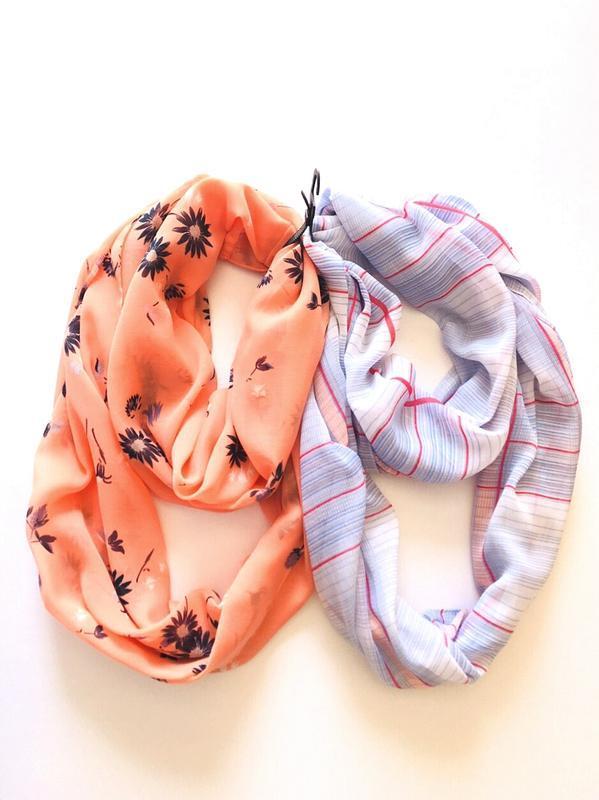 Комплект 2 шт. легкие весенне-летние снуды, шарфики-хомуты, c&a