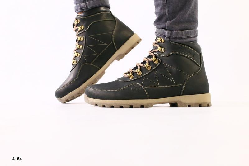 Lux обувь! качественные зимние мужские ботинки кожа crazy 40-45р