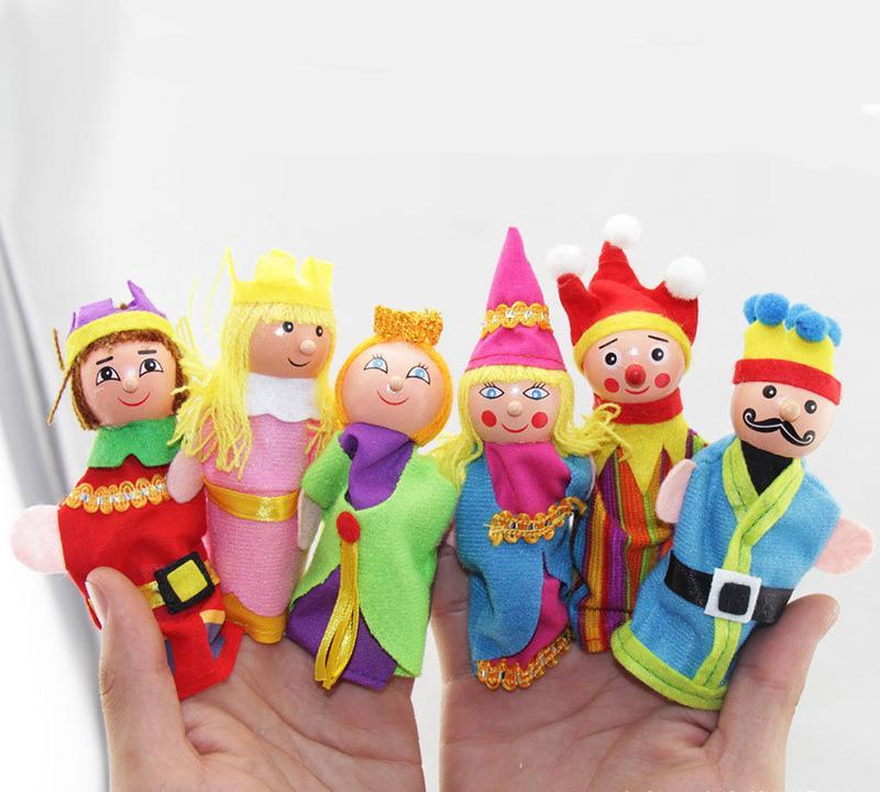 Пальчиковый театр королевство (деревянные головы)