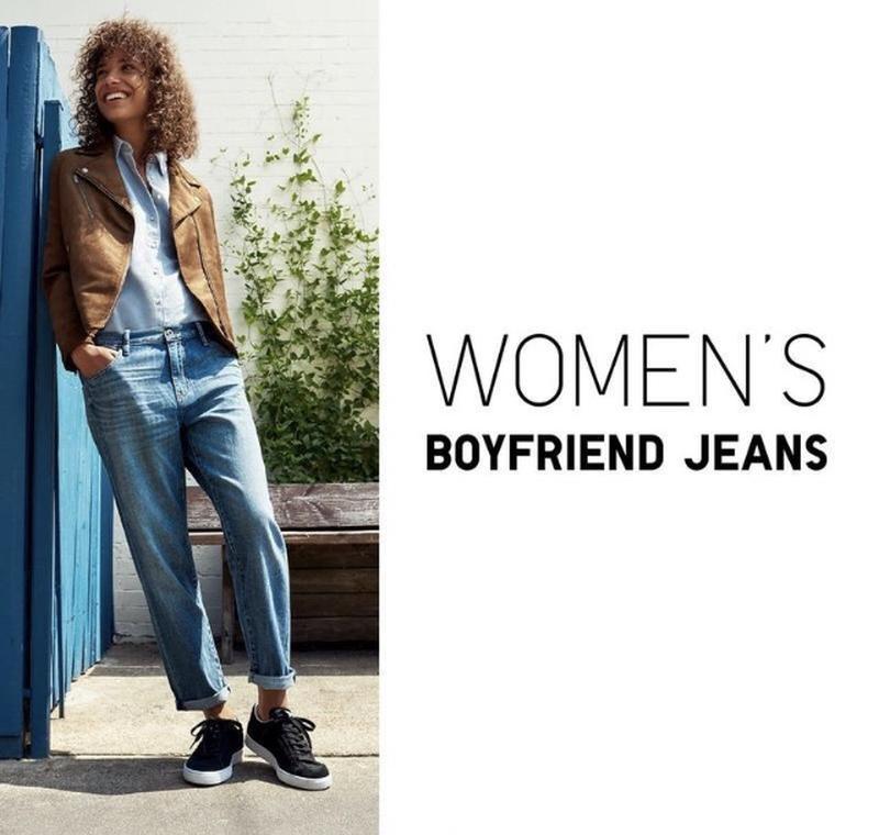 Джинсы uniqlo women high-rise boyfriend-fit