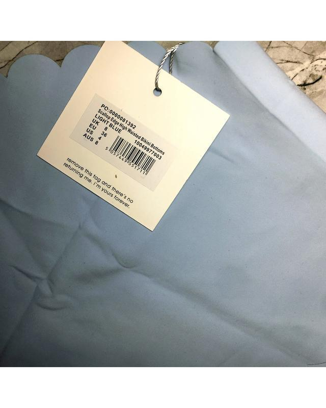 Новые нежно голубые фирменные купальные трусики ретро с высоко... - Фото 4