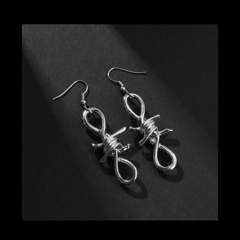 Серьги готические массивные цепи колючки колючая проволока укр...