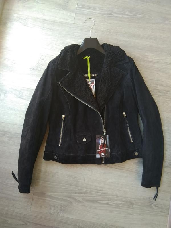 Новая утеплённая куртка косуха freaky nation, германия. l-xl  ...