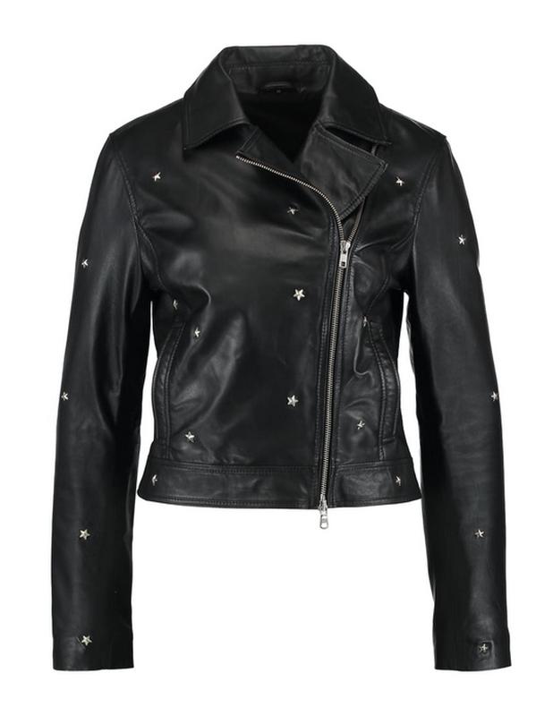 Новая куртка косуха из кожи со звёздами, eu34 (xxs-xs) one mor... - Фото 2