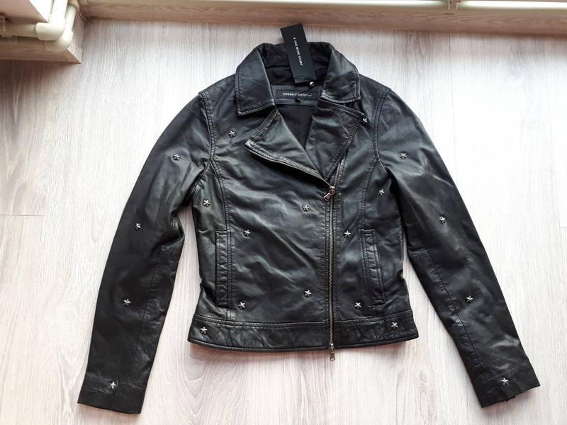 Новая куртка косуха из кожи со звёздами, eu34 (xxs-xs) one mor... - Фото 5