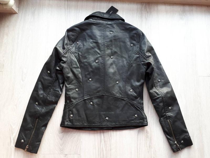 Новая куртка косуха из кожи со звёздами, eu34 (xxs-xs) one mor... - Фото 6