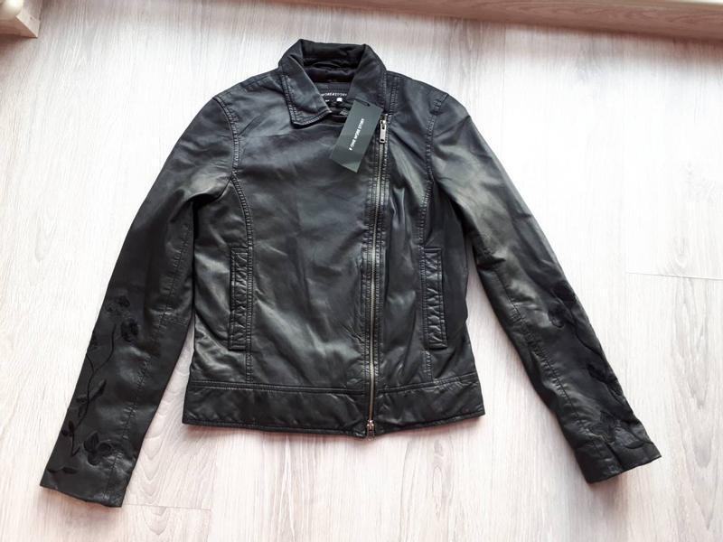Тренд.100% кожа. куртка-косуха с вышивкой one more story, герм... - Фото 4