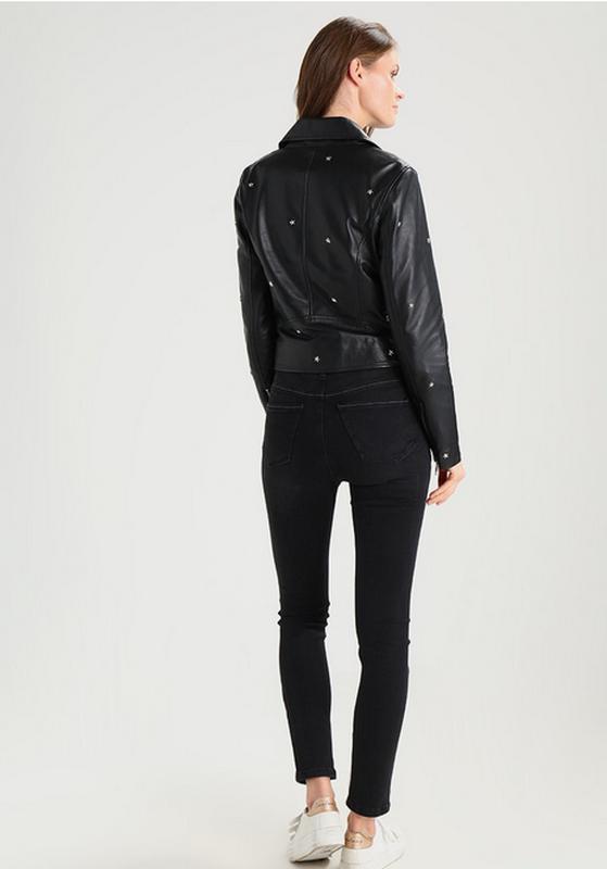 Новая куртка косуха из кожи со звёздами, eu34 (xxs-xs) one mor... - Фото 7