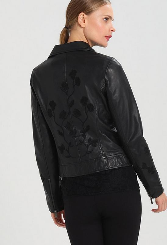 Тренд.100% кожа. куртка-косуха с вышивкой one more story, герм... - Фото 7