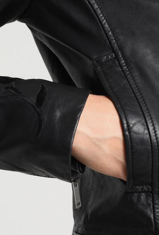 Тренд.100% кожа. куртка-косуха с вышивкой one more story, герм... - Фото 8
