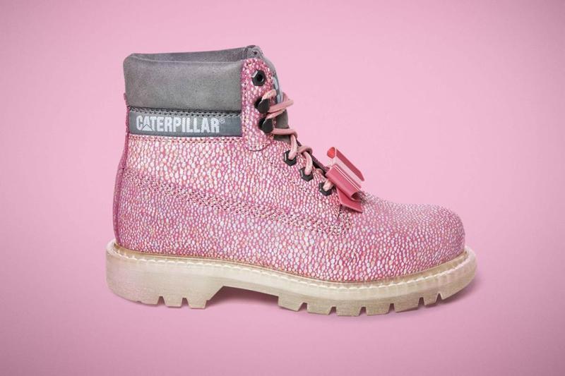 Тренд. розовые ботинки caterpillar бант съёмный us6(24),us7(25...