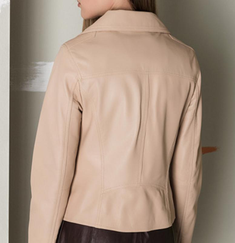 Новая куртка косуха из премиум кожи oakwood, франция. пудра/ню... - Фото 4