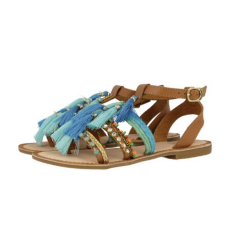 Новые сандалии gioseppo с кисточками, камнями 100% кожа яркие ...