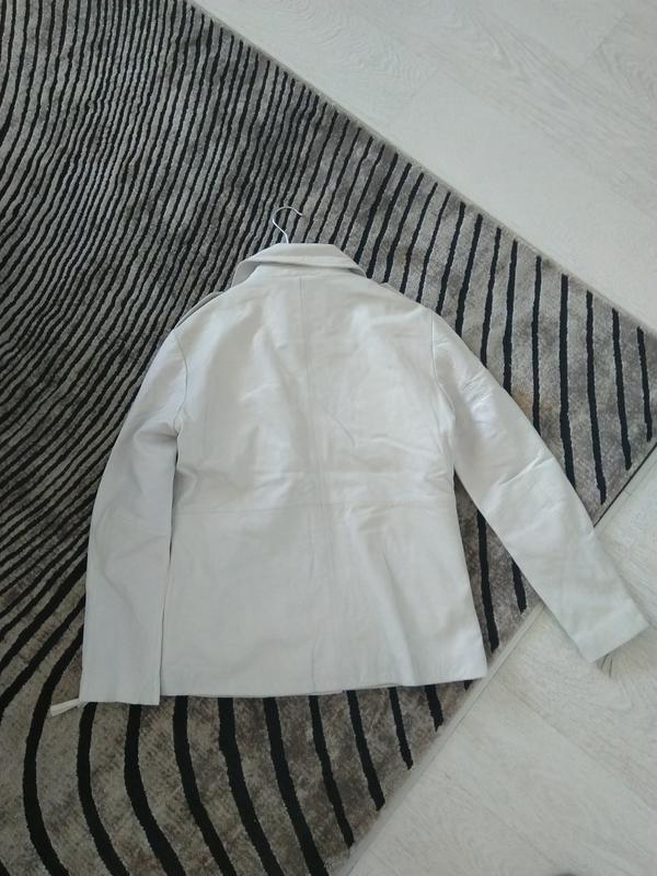 Новая кожаная куртка косуха pepe jeans london 100% кожа нюанс ... - Фото 3