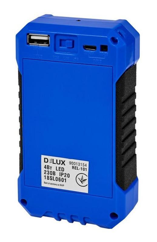 Светодиодный аккумуляторный светильник-Power Bank DELUX REL-101 - Фото 2