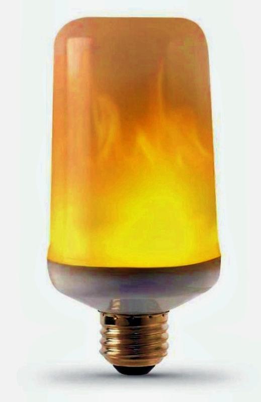 Декоративная светодиодная лампа живой огонь FIREFLUX 5W E27 220v - Фото 2