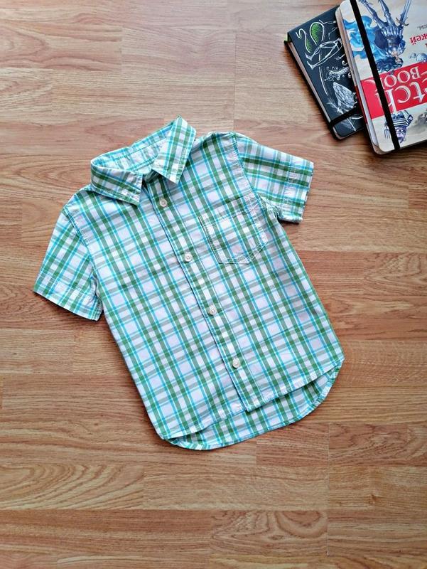 Детская стильная летняя брендовая рубашка для мальчика h&m - в...