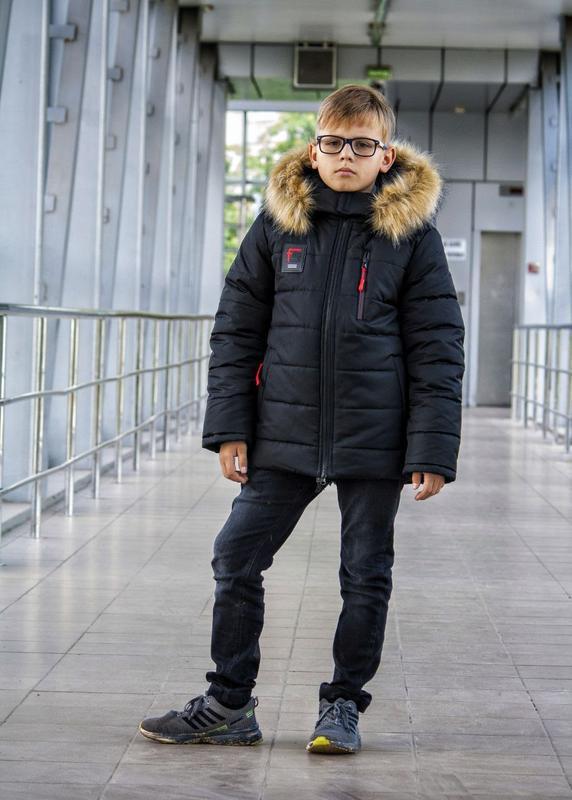 Куртка зимняя, тёплая,чёрная,для мальчика,детская