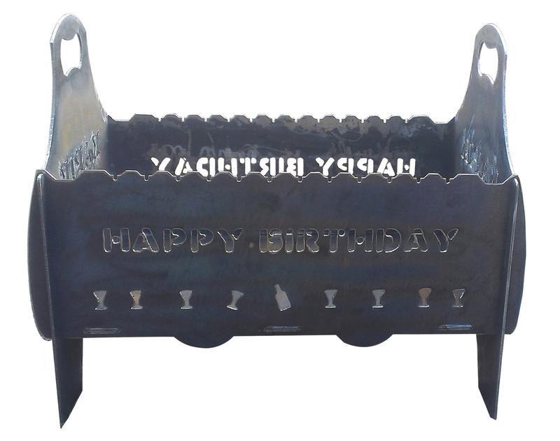 Мангал разборный, мангал переносной, индивидуальная надпись - Фото 2