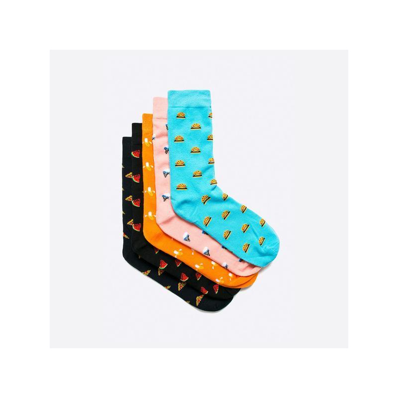 Brave soul 41-45 / мужские цветные носки в узор, 5 пар комплект