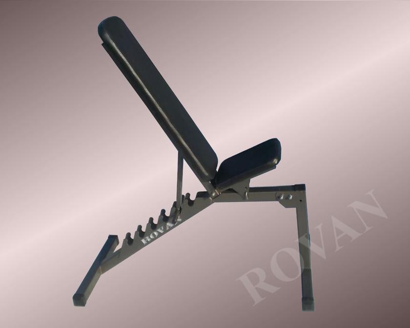 Силовая скамья для жима лежа регулируемая Rovan черная - Фото 2