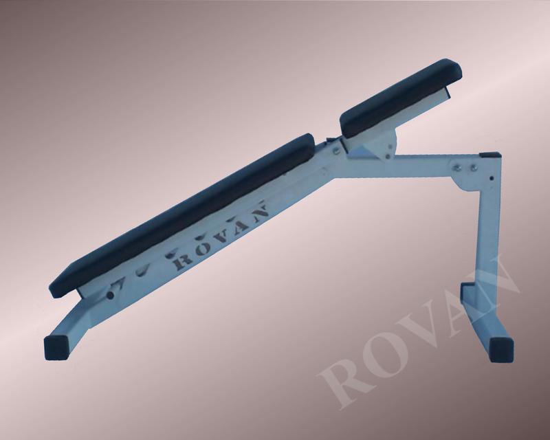 Силовая скамья для жима лежа регулируемая Rovan черная - Фото 3