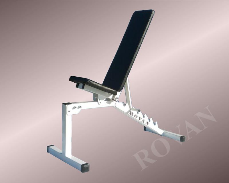 Силовая скамья для жима лежа регулируемая Rovan черная - Фото 4