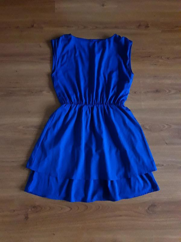 Платье ярко синее, цвет электрик h&m, р. 38