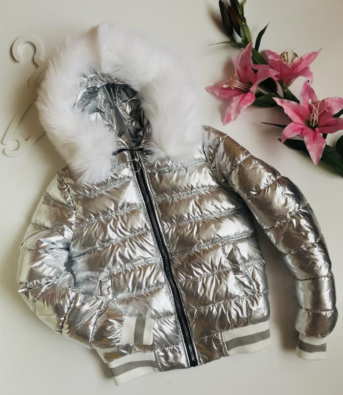 ⛔✅куртка серебро с мехом в продаже куртка без меха