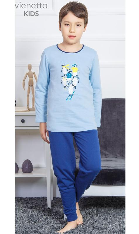 Тёплые пижамы для мальчиков от 3 до 8 лет байка