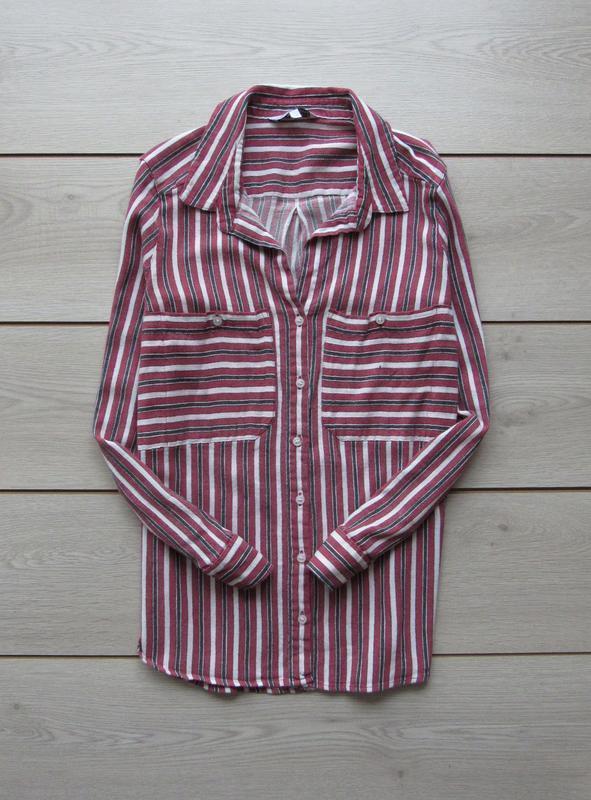 Рубашка в полоску с закатывающимися рукавами от next