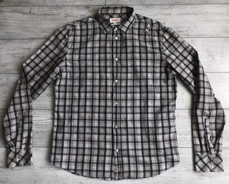 Сорочка\рубашка diesel slim fit checked shirt