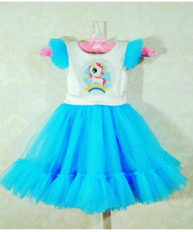 Платье детское единорожка