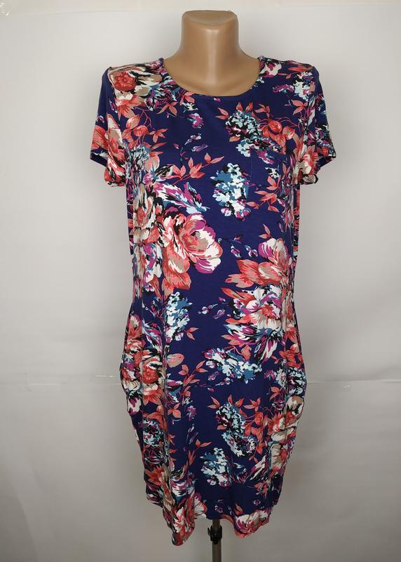 Платье красивое в цветы tu uk 12/40/m