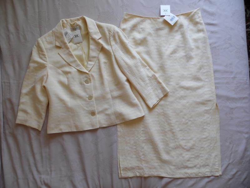 Костюм жакет+юбка лето kaliko размер 16(42) – идет на 50-52.